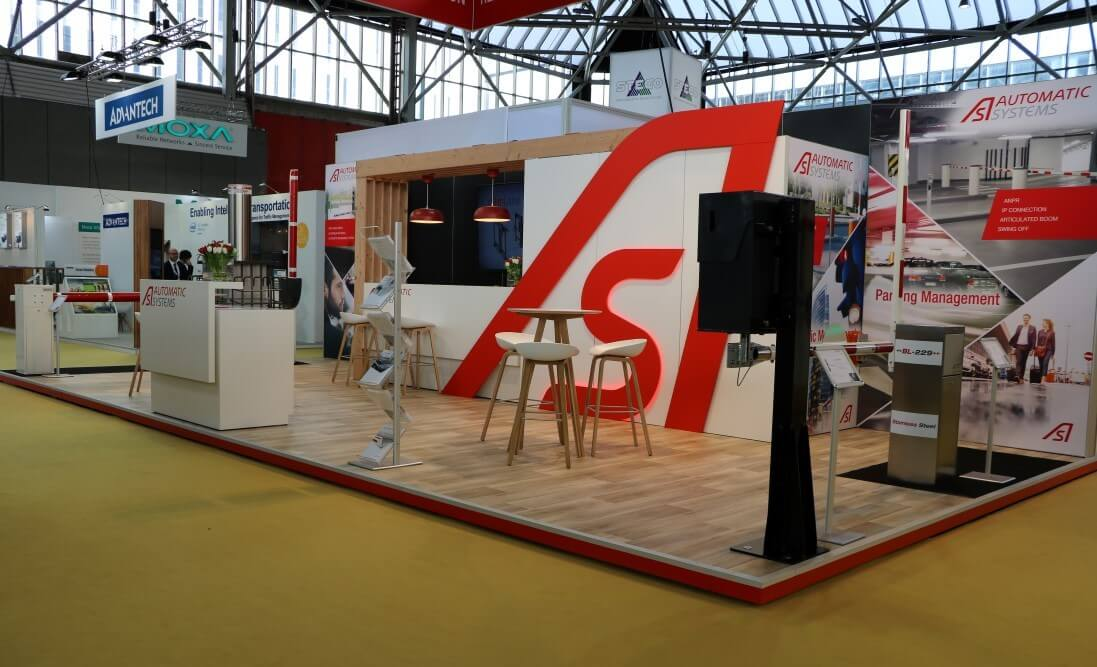 Beursstand met aluvision standenbouw systeem | © www.Expopoint.be