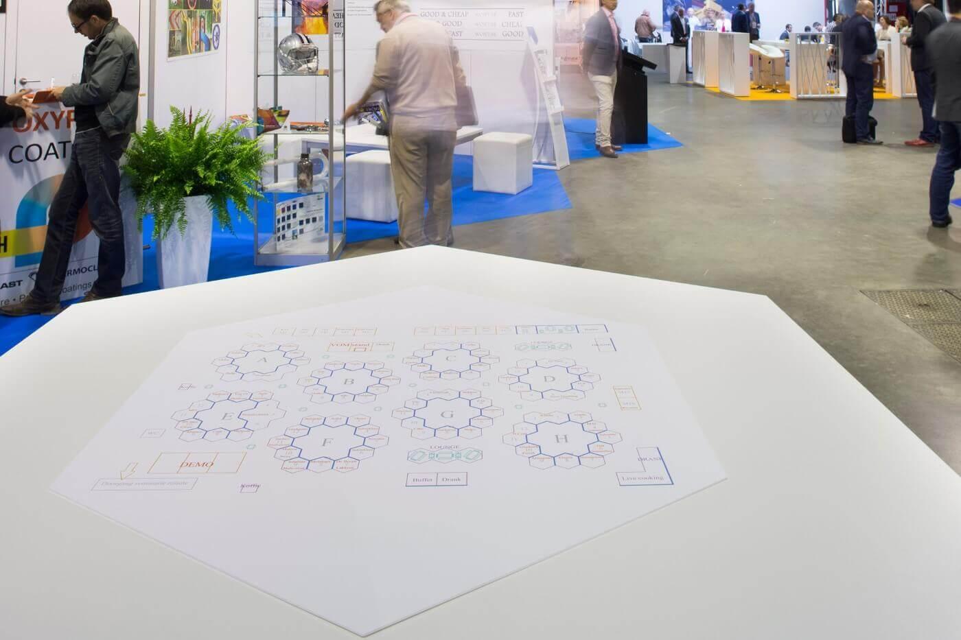Het grondplan van een origineel beursconcept | © www.Expopoint.be