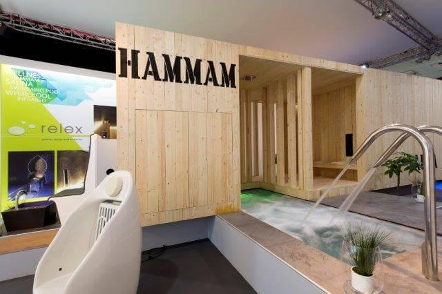 Beursstand voor welness en sauna | © www.Expopoint.be