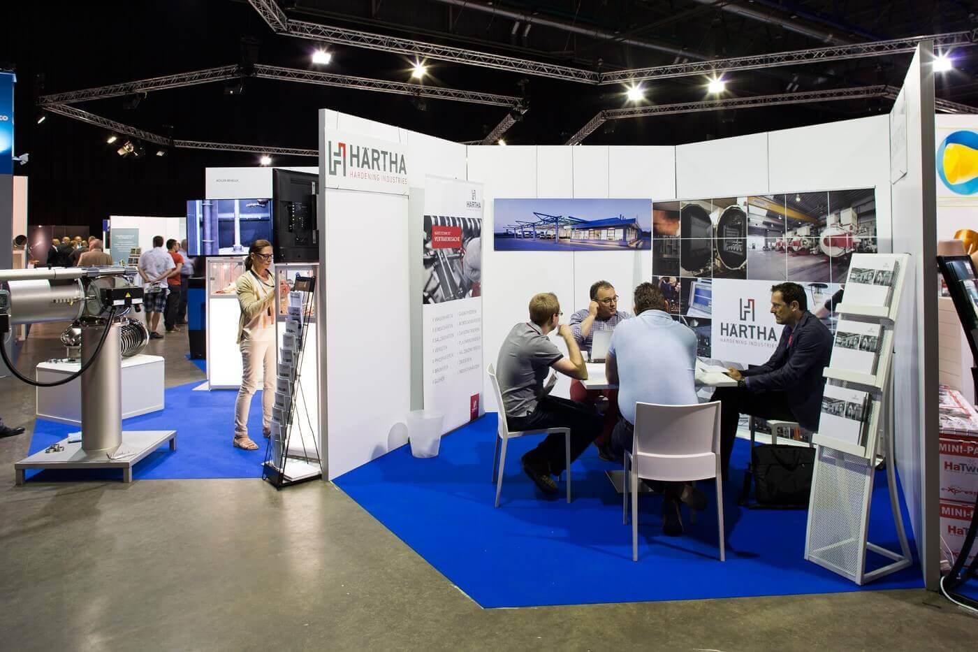 Beursstanden op een vakbeurs bouwen | © www.Expopoint.be